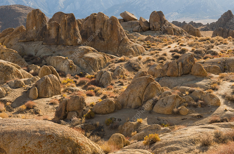 Rock Formations in Alabama Hills