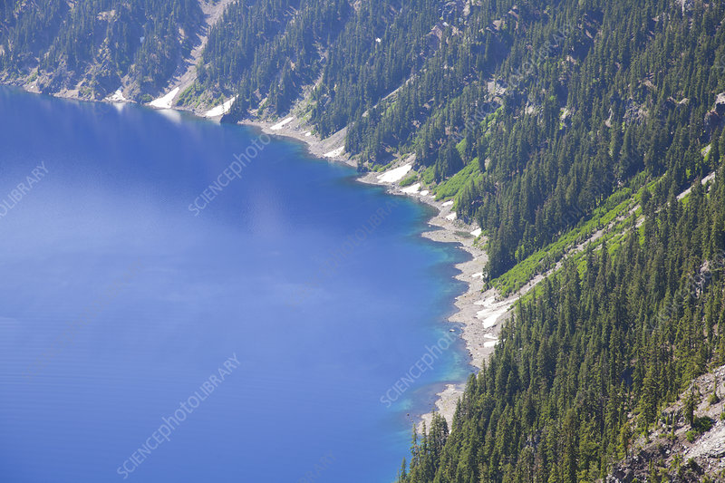 Crater Lake and Fir Lined Slopes