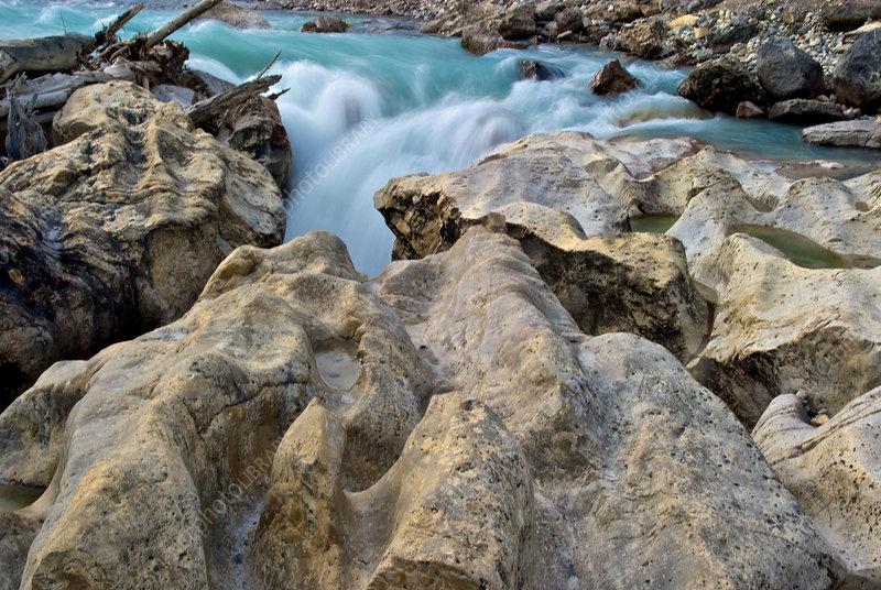 Slot Canyon, North Saskatchewan River