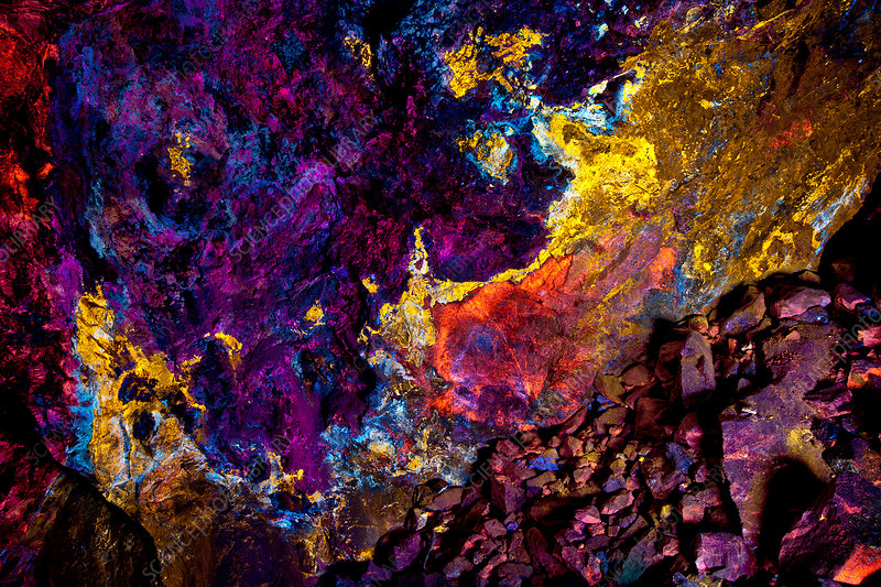 Mine with Fluorescent Minerals
