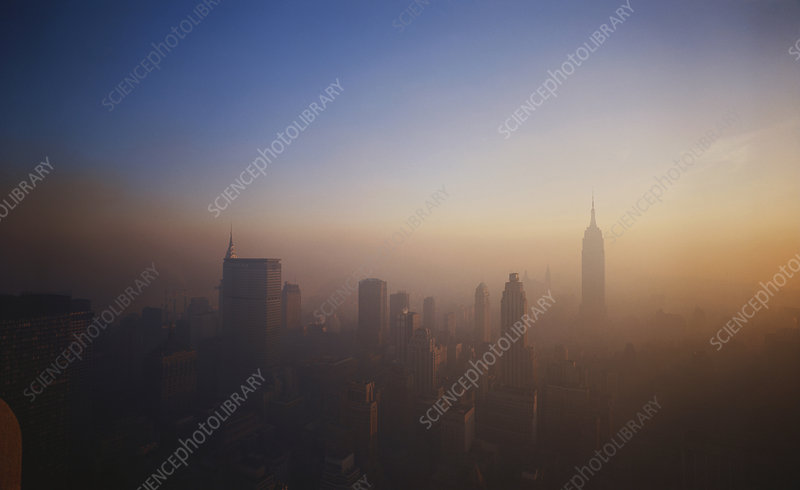 Smog over NYC, USA