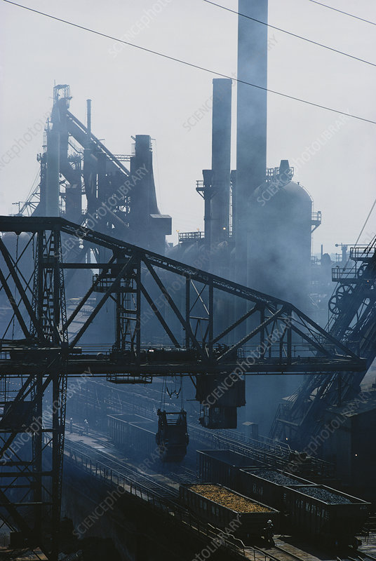 Smoke Pollution from Steel Mill