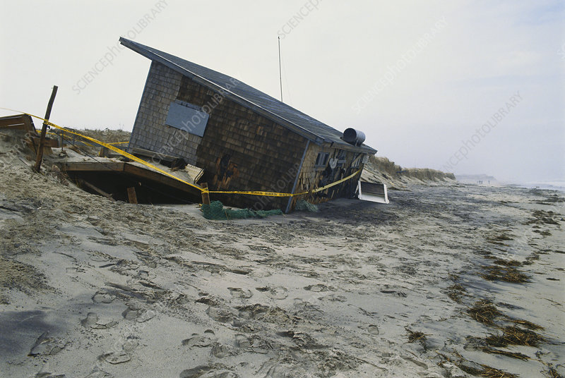 Collapsed Cottage Due to Erosion, USA