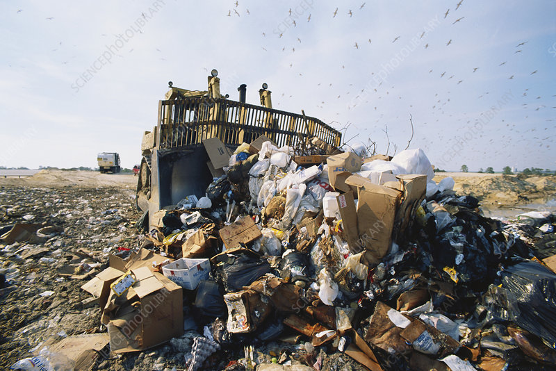 Spreading Waste in Landfill