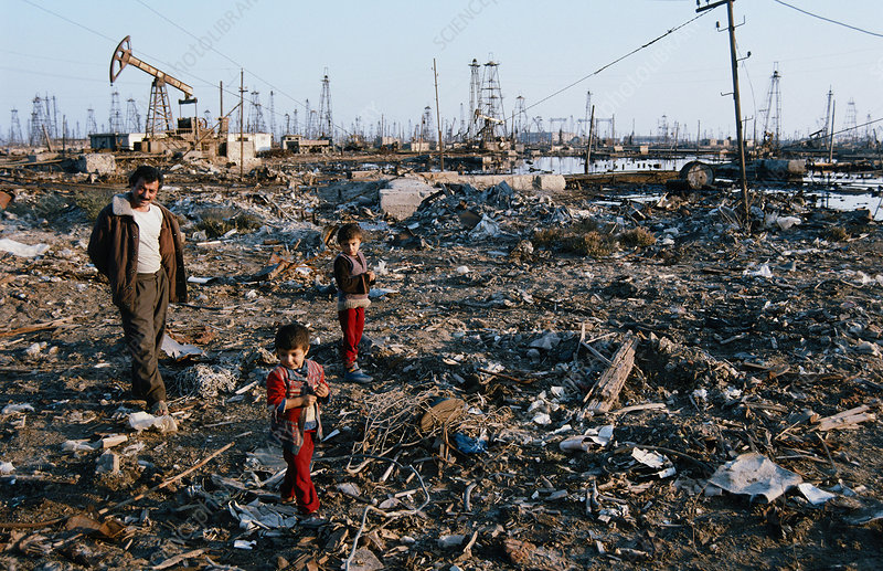 Polluted Oilfield, Azerbaijan