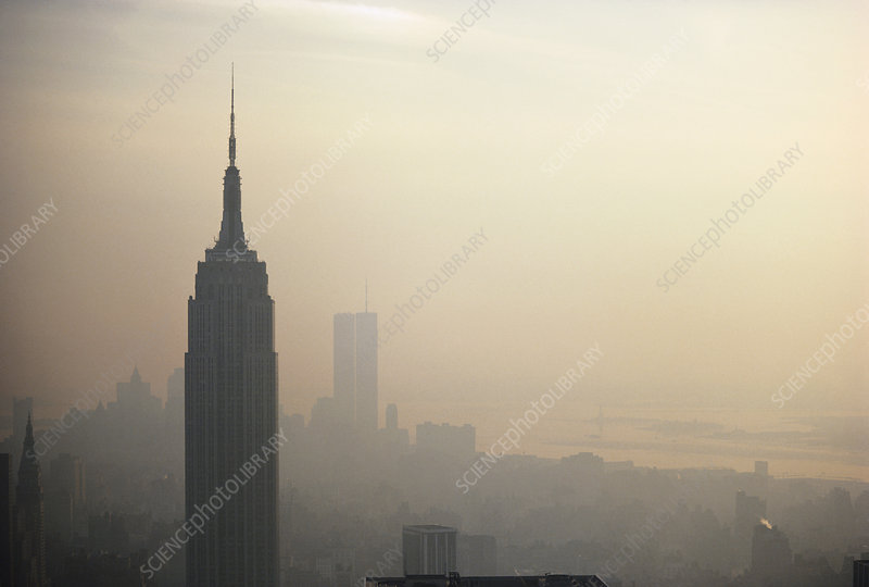 Smog in NYC, USA