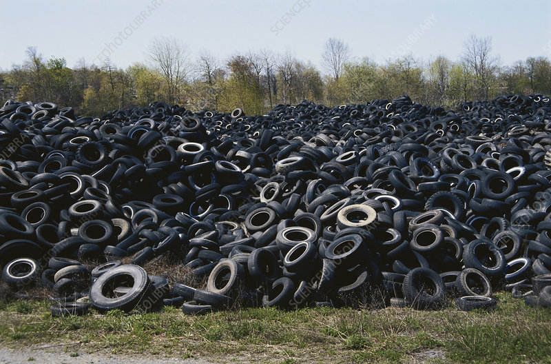 Discarded Auto Tires