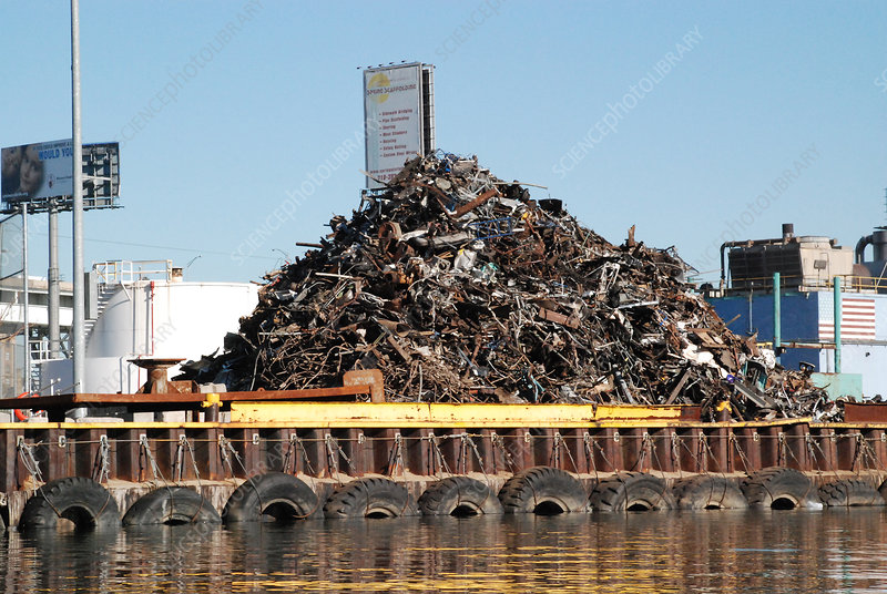 Metal Recycling Barge, Newtown Creek, NYC