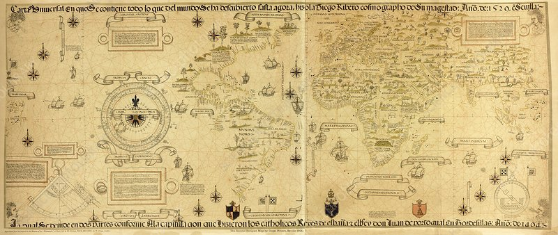 Ribero's world map, 1529