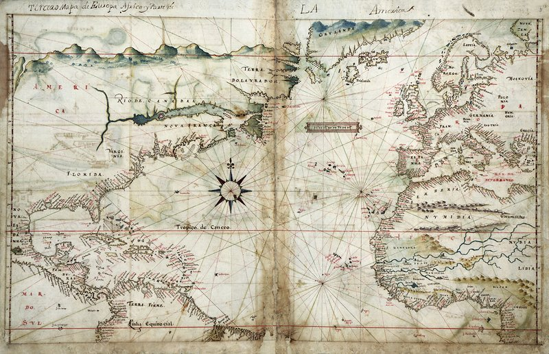 North Atlantic region, 1630