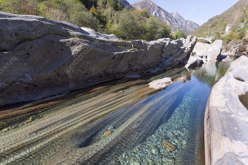Eroded river bed, Switzerland