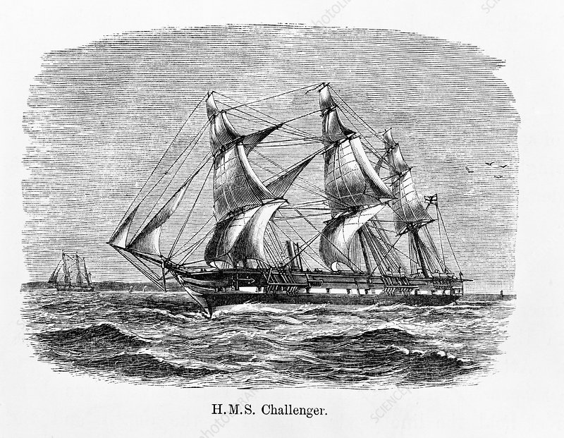 HMS Challenger, illustration