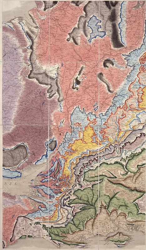 Geological map of the West Midlands, UK