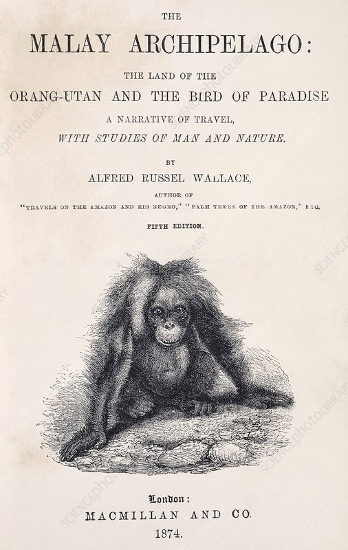 Title page of 'The Malay Archipelago'
