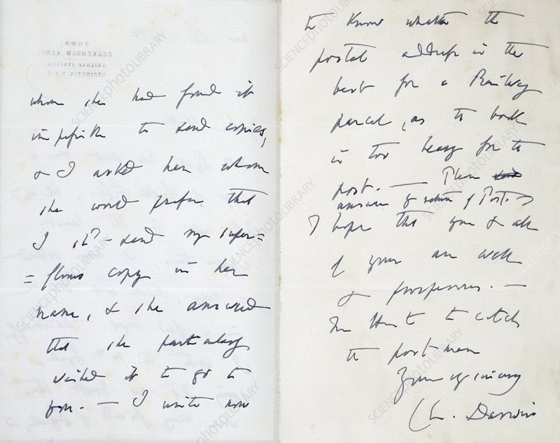 Letter from Darwin to Wallace, 1880