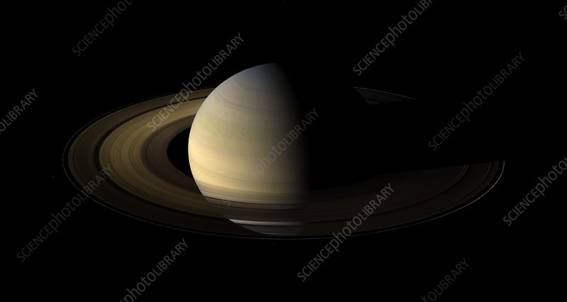 Saturn equinox, Cassini image