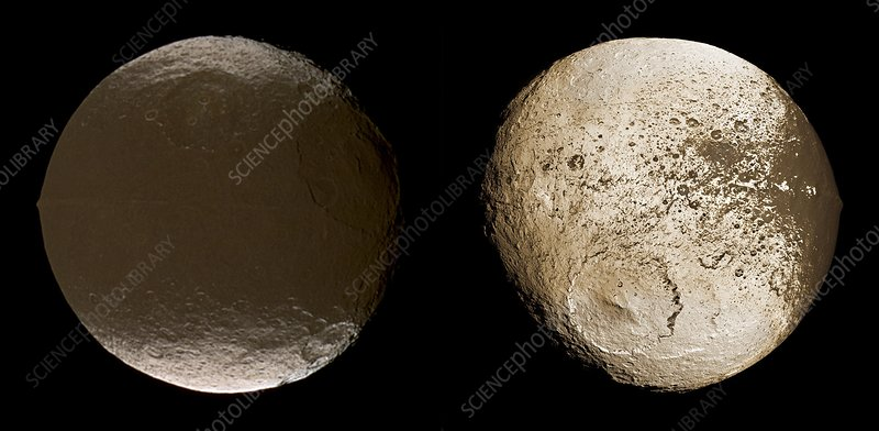 Saturnian moon Iapetus, Cassini images