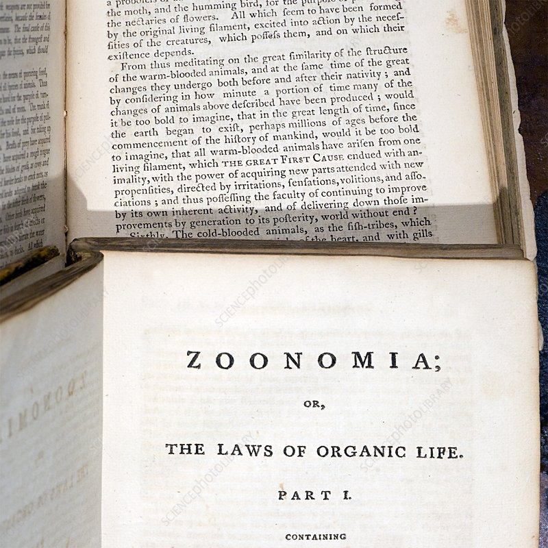 1794 Erasmus Darwin Zoonomia evolution