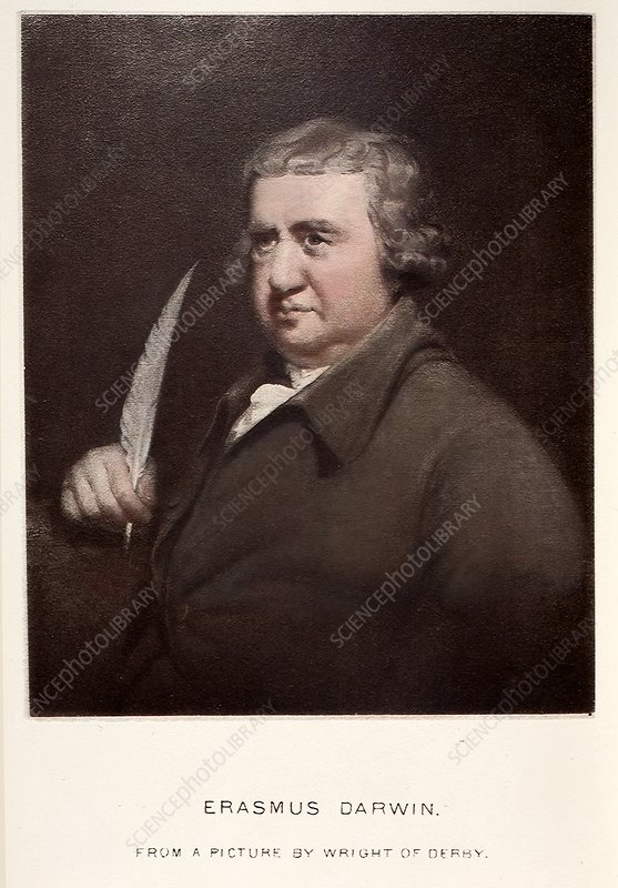 1792 Erasmus Darwin portrait at 61 years
