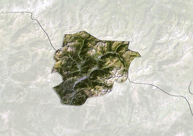 Andorra, satellite image