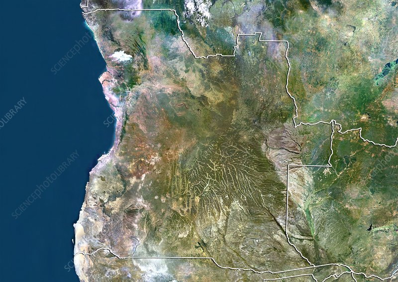 Angola, satellite image