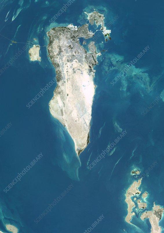 Bahrain, satellite image