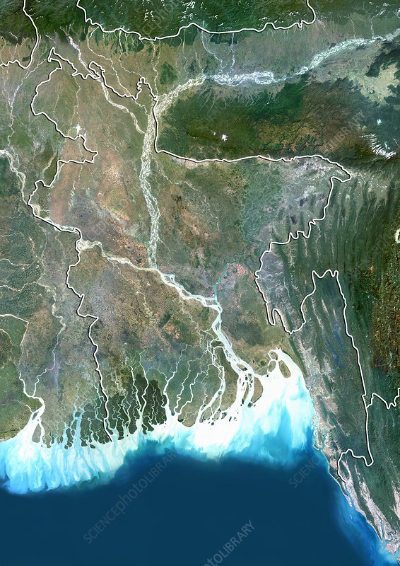 Bangladesh, satellite image
