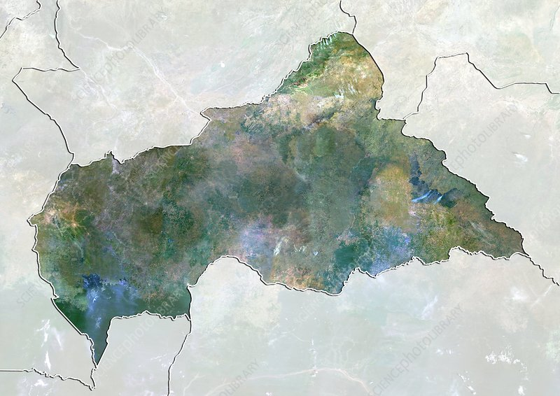 Central African Republic, satellite image