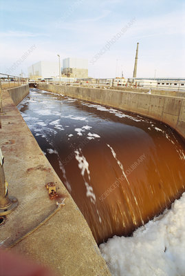 Cooling canal of nuclear plant