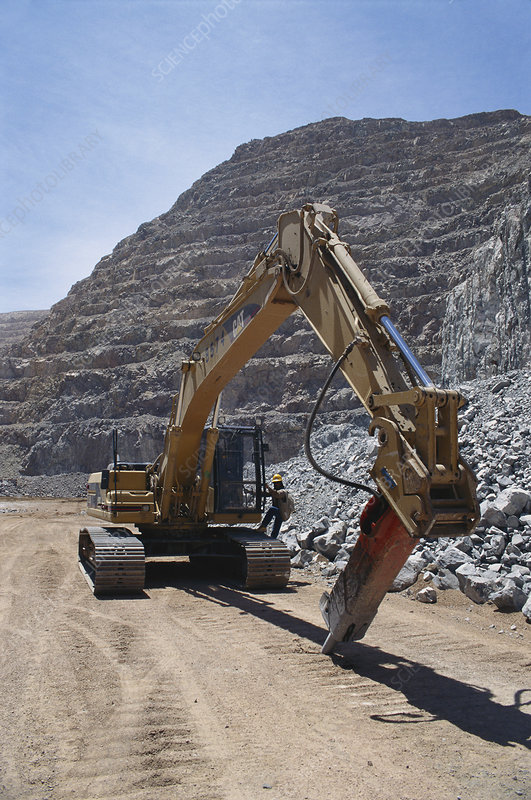 Digger at Open-pit Copper Mine, Chile