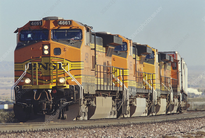 BNSF Freight Train, California, USA