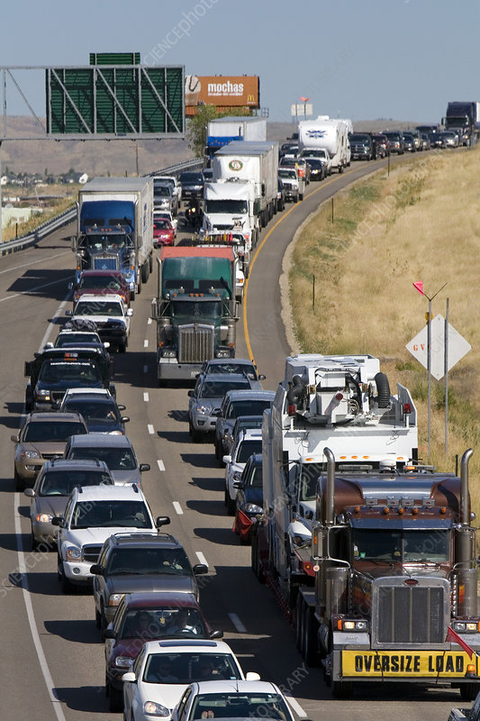 Traffic on Interstate 84 in Idaho