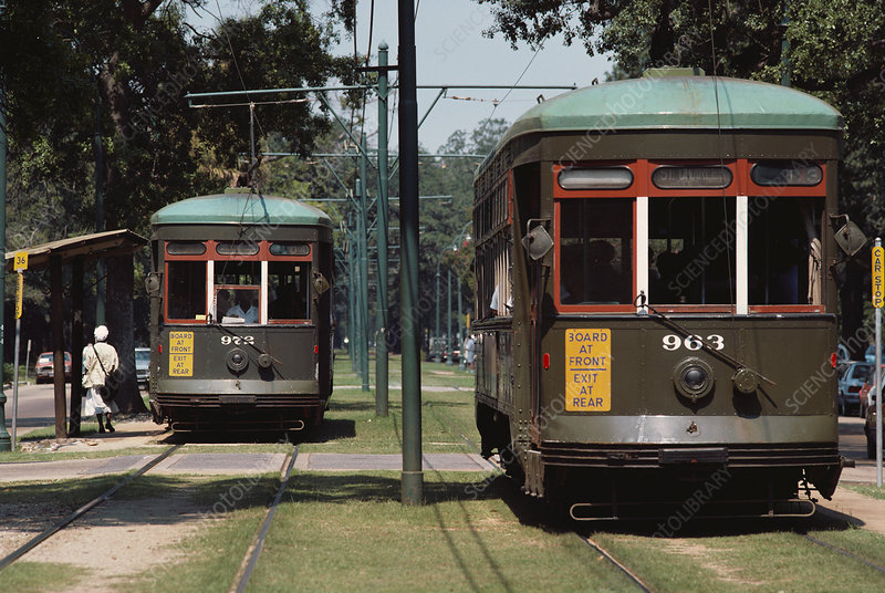 Streetcars, New Orleans, USA