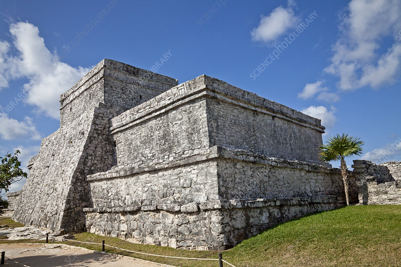 Pyramid at the Ruins of Tulum, Mexico