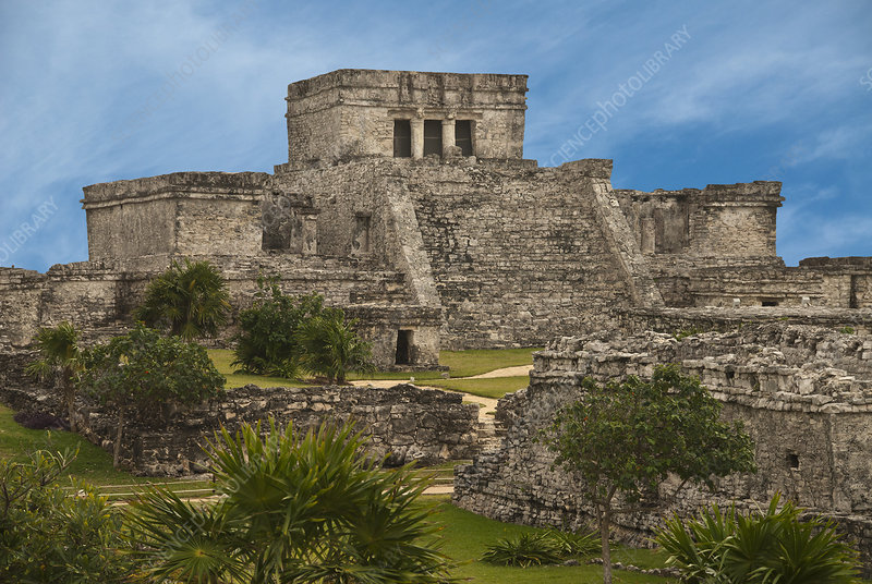 The Castle at the Ruins of Tulum, Mexico