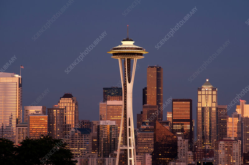Seattle skyline with Space Needle, USA