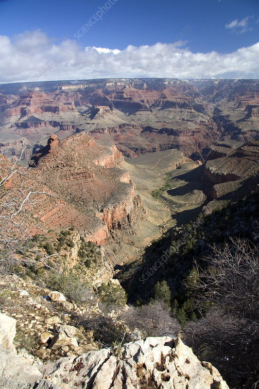 South Rim view of the Grand Canyon, USA