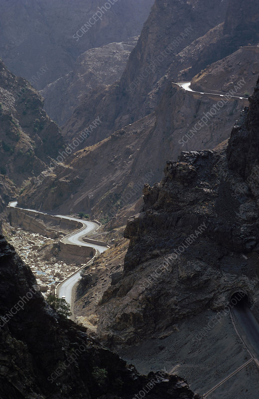 Hindu Kush Mountains and Kabul Gorge
