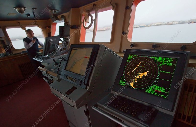 Bridge of a nuclear icebreaker