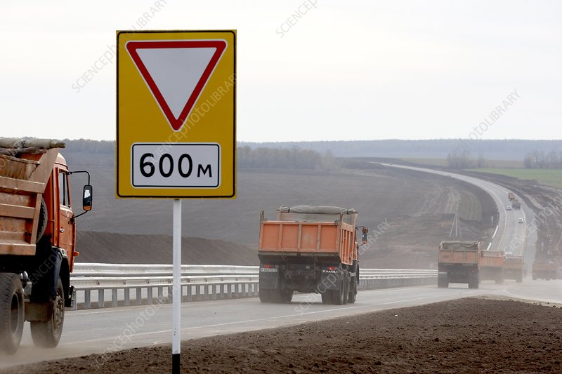 New highway in Russia