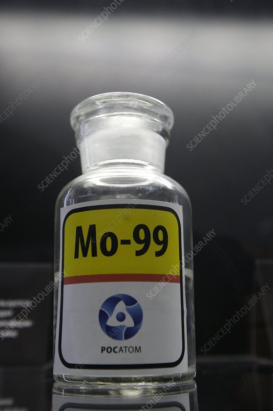 Container of molybdenum-99