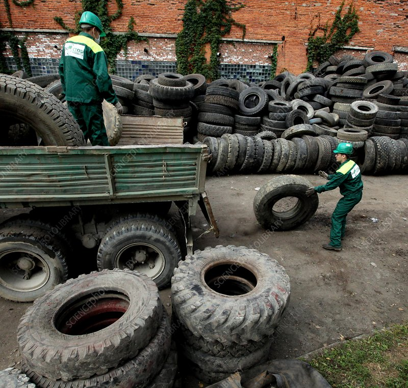 Recycling of truck tyres