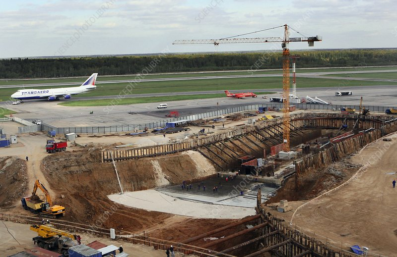 Building works at an airport