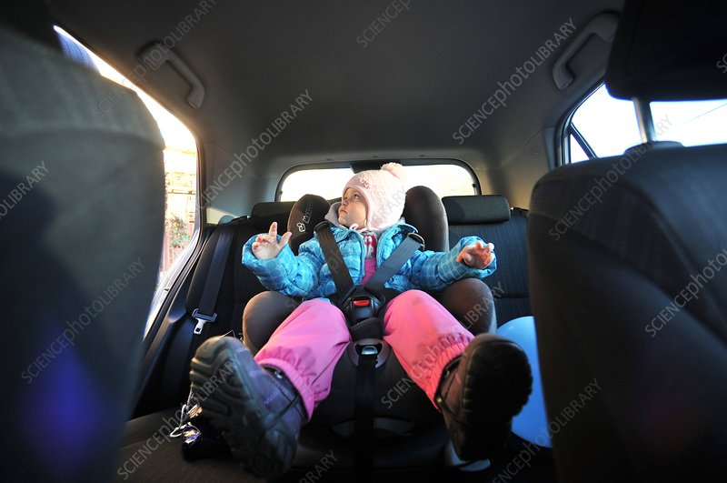 Child in a child car seat