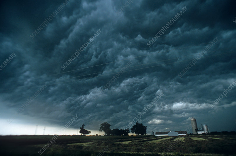 Thunderstorm Clouds over Farmstead