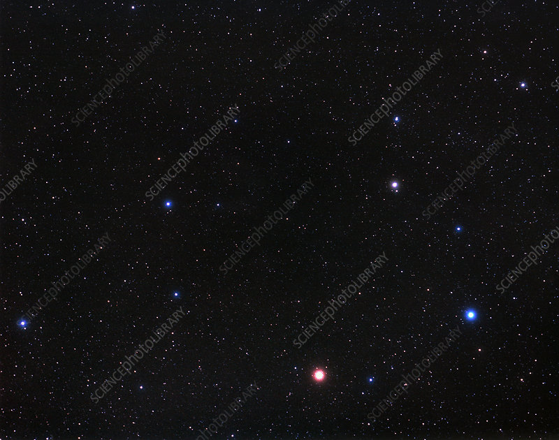 Constellation of Leo with Planet Mars