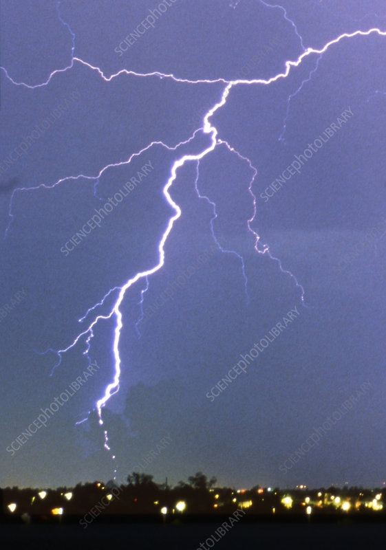 bead lightning stock image c012 4312 science photo library