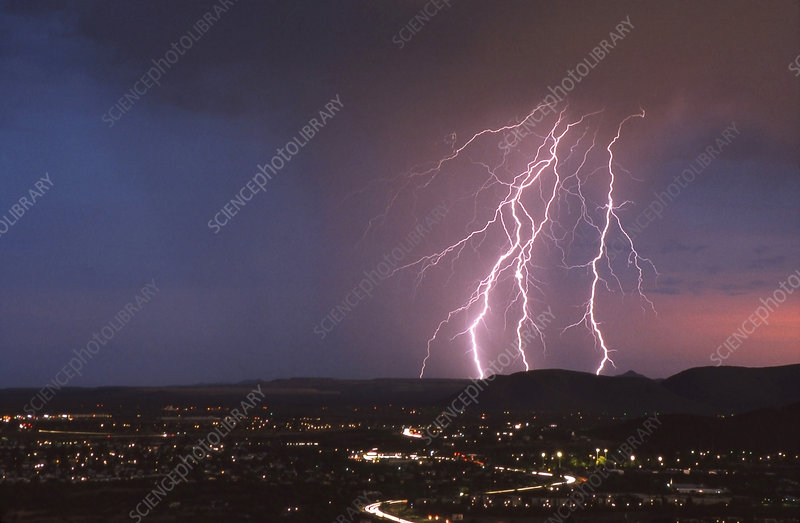 Summer Lightning Over Tucson, Arizona