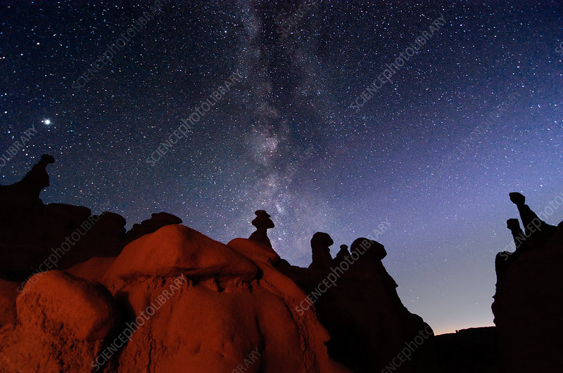 Hoodoos and Milky Way, Utah