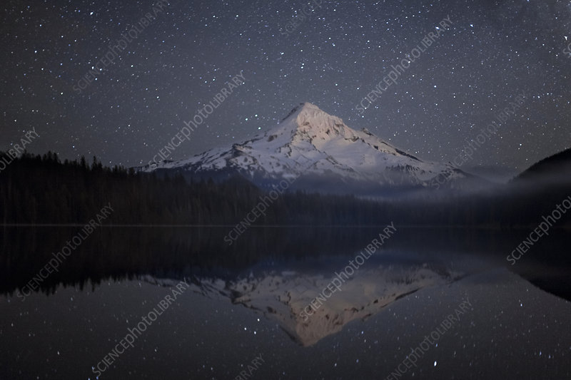 Mt. Hood and Milky Way